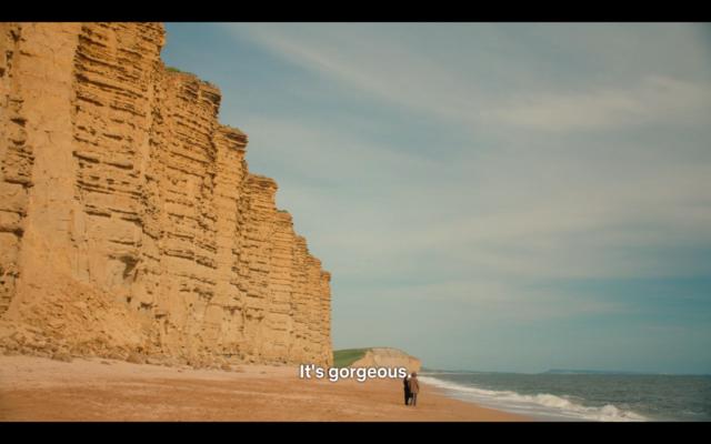 "Scene of Jurassic Coast from ""Broadchurch"""