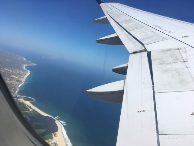 view from airplane
